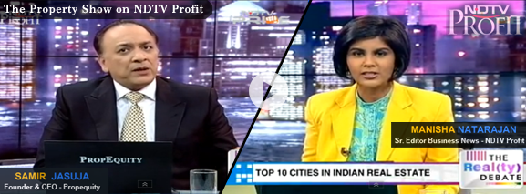 Propequity Property show on NDTV Profit